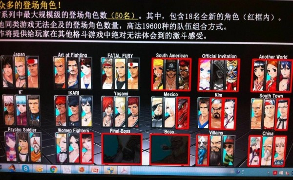 King of Fighters 14 roster