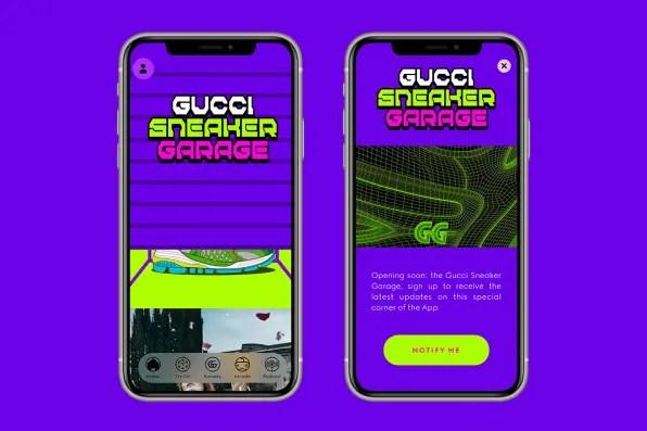 Nuova app a realtà aumentata (AR) di gucci