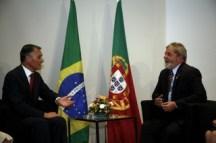 Cavaco Silva e Lula da Silva.