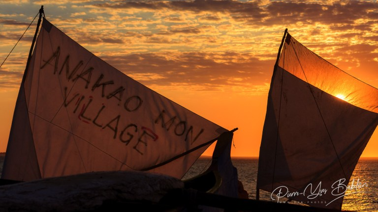 Sunset on Malagasy sails