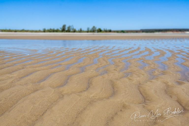 Banc de sable à marée basse