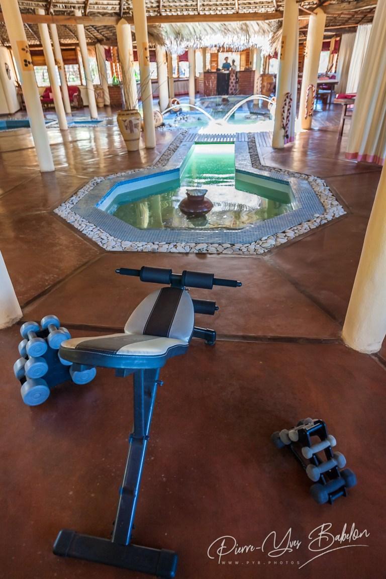 Tropical spa in resort