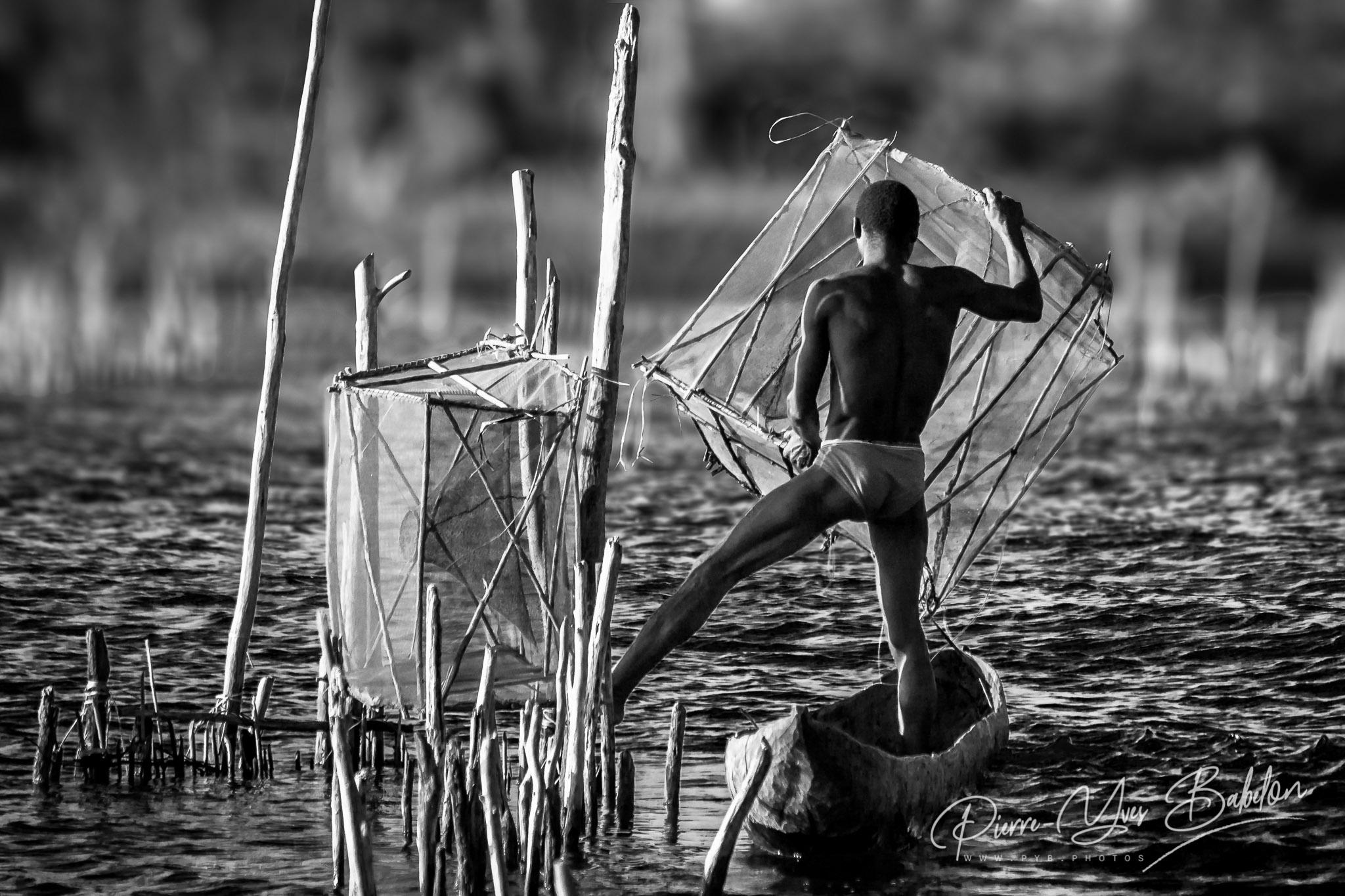 Acrobatic fishing