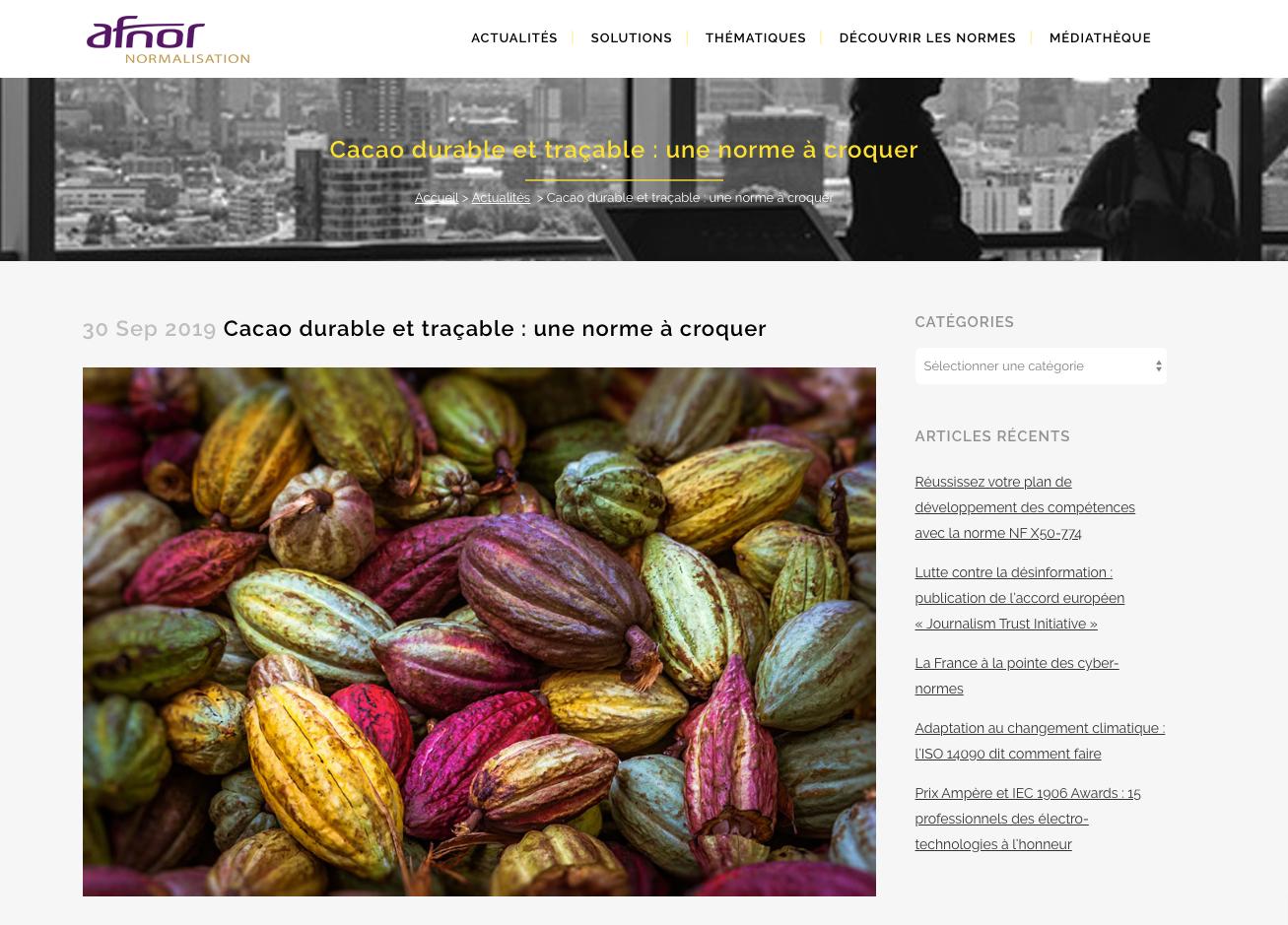 Cacao de Madagascar, photo Pierre-Yves Babelon