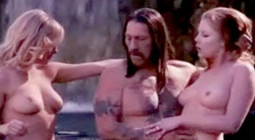 Lindsay Lohan naked pool threesome Machete