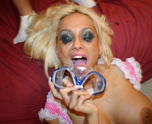 Jayna James – Goggle Eyes *** Bukkake DP Gangbang ***