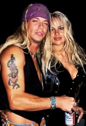 Pamela Anderson and Bret Michaels at Webster Hall in New York City - October 8, 1994