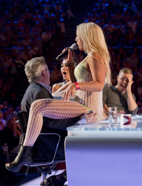 Lorna Bliss lapdance X Factor UK