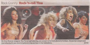 Clare Turton Tina Turner 2009