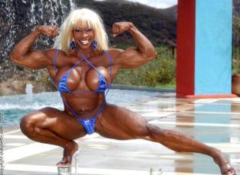 Yvette Bova female bodybuilder porn star l