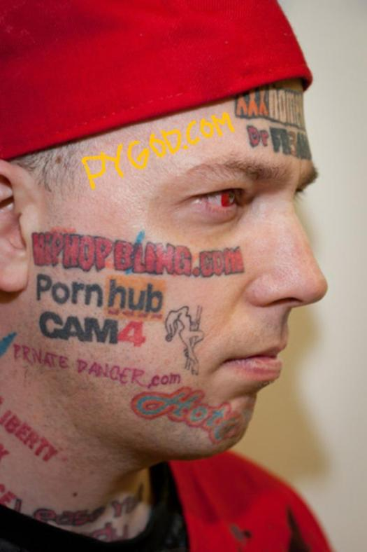 tattooed porn websites on his face right side PYGOD dotCOM