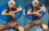 Christina Aguilera swimming pool