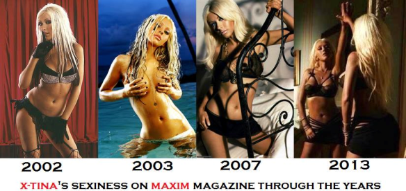 Christina Xtina Aguilera Maxim 100 Hottest Women ranking