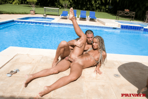 Sandra in Anal Tropical Honeymoon poolside fuck 13