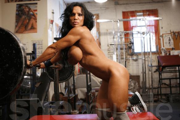 Rhonda Lee Quaresma nude naked big clit bodybuilder