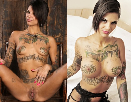 Bonnie Rotten before and after breasts enhancement