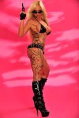 Sharon Da Vale facebook tattooed blonde pornstar