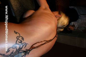 Sharon Da Vale lower back tribal tattoo