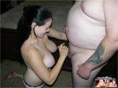 Tasha Knox jerks off ugly fat boy 1