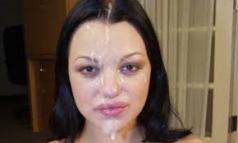 BellaDonna Cum Swallowing Challenge Semen Cumshots 01