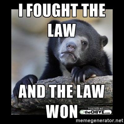 Pedobear - I fought the law and the law won