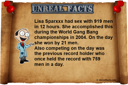 Lisa Sparks Had Sex with 919 Men in a Day