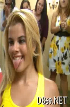 Elizabeth Bentley blonde teen getting ready to receive a facial cumshot