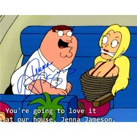 Jenna Jameson Signed Family Guy Photo