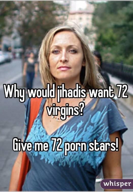72 Porn Stars over 72 Virgins