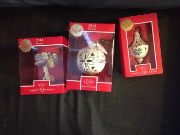 Christmas ornaments from Granny and Grandpa