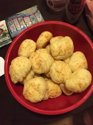 Lucky us, we had Brazilians making us pão de queijo