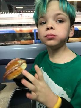 First bacon sandwich - it's a hit!