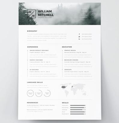 Free-Minimalist-y-Clean-Resume-Template