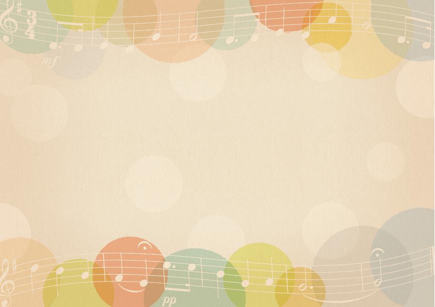 楽譜とドットのフレーム アンティーク(楽譜、音符、五線譜、ト音記号、レトロ、水玉、フレーム)