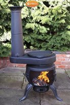 Gardeco Tia Chimenea with BBQ Grill review