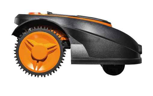 WORX WG790E Robotic Lawn Mower side view - perfect for large lawns up to 800 square meters