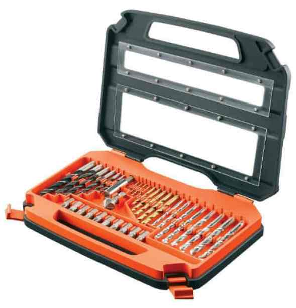There are 35 pieces well organised in a handy carry case which is also super lightweight. It's perfect for drilling in masonry, wood and metal.