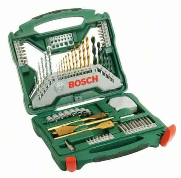 The Bosch Titanium Drill and Screwdriver Set is perfect for standard DIY jobs but you got to stick to drilling wood, metal and masonry. At the price of slightly above £20, you get 70 drill bits that are high-quality and long-lasting.