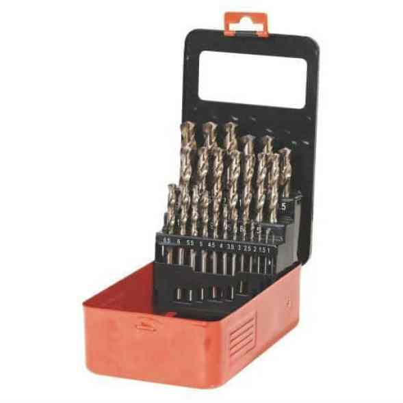 ?The Sealey AK4702 is a brilliant set with a wide selection ranging from 1mm to 13mm. The split tip is a great feature as it reduces the need for a centre mark and the option of re-sharpening the drill bits ensures you have high-performing bits throughout.