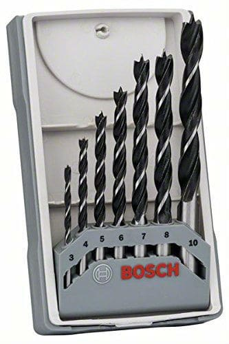 The Bosch X-Pro Wood 7pc Drill Bit Set contains a fantastic quality of drill bits. They are sharp thus deliver very clean, precise holes and they don't lose their edge after a lot of use.