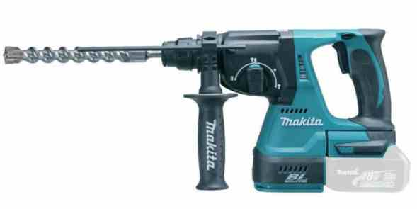 The Makita DHR242Z SDS-plus Hammer Drill can deliver enough power to work on any heavy duty jobs from drilling concrete and granite to chiseling walls with the Hammer action using a SDS Plus chisel bit.