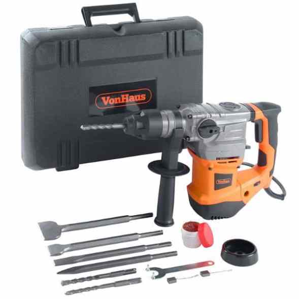 VonHaus 1500W SDS Rotary Impact Hammer Drill Set Review