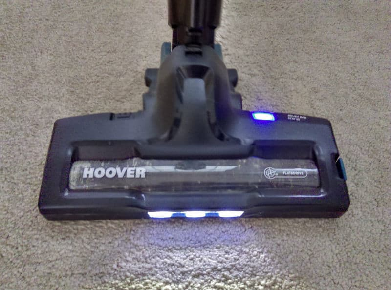 Hoover H FREE HFCPT features LED lights - ideal for lighting up areas under tables, chairs and spotting dirt better on carpets.