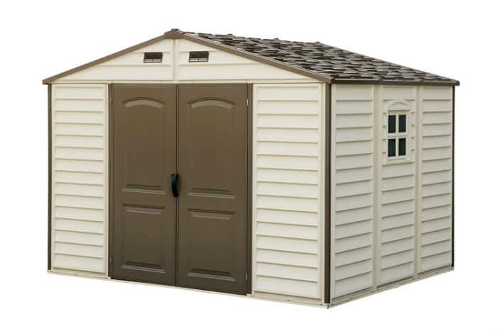 Woodside 10 x 8 Vinyl Storage shed Review