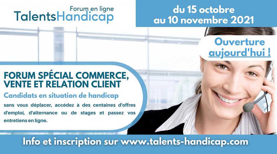 Talents Handicap commerce