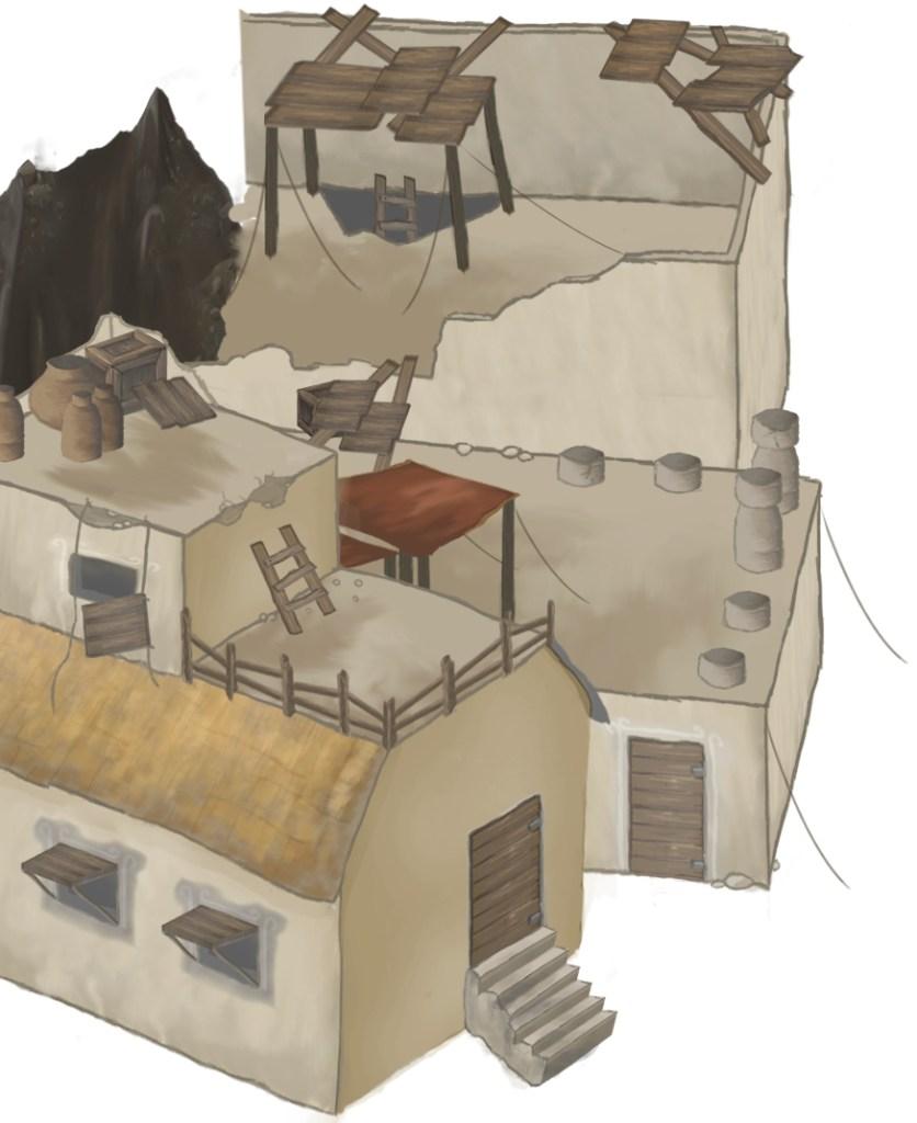 Slum houses work in progress
