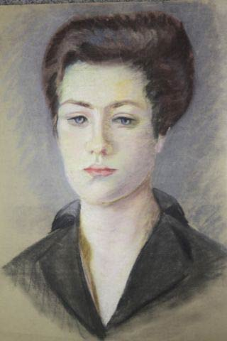 Selbstporträt der jungen Alice von Maltzahn.