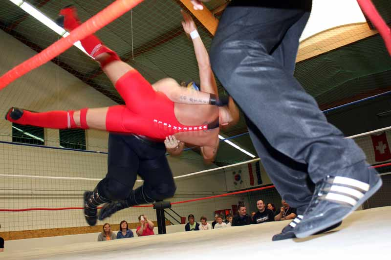 Wrestling: Unsortierte Gliedmaßen.