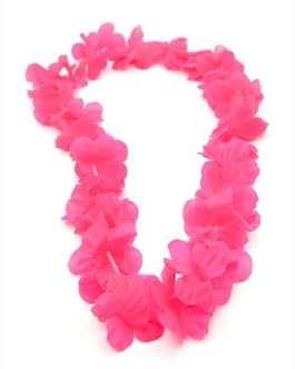 collana hawaiana monocolore rosa