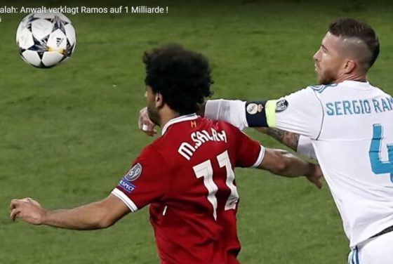 Foul de Ramos a Salah